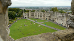 Dudley Castle - view from the keep. Stock Footage