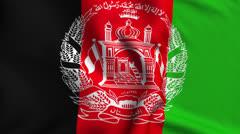 Afghanistan Weave Textured Flag Loop - stock footage