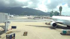 Runaway time-lapse at Hong Kong international airport Stock Footage
