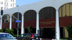 Close Up Of Department Of Public Social Services Building - Los Angeles - stock footage