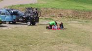 Family enjoying a picknick Stock Footage