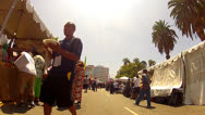 Stock Video Footage of Walking Through Hispanic Street Fair- MacArthur Park- Los Angeles