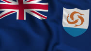 Stock Video Footage of Anguilla Weave Textured Flag Loop
