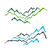 Stock Illustration of Group of Mountains with peaks