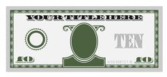 10 money bill - stock illustration