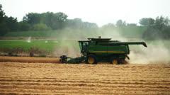 Combine harvest Stock Footage