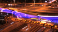 Night city traffic on a freeway, Moscow, time-lapse. Footage