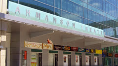 Ahmanson Theatre Marquee And Entrance -  Los Angeles - stock footage