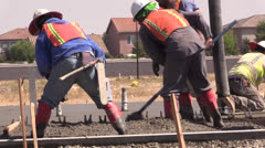 New Home Construction, cement foundation Stock Footage