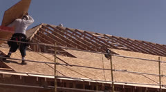 New Home Construction , builder Stock Footage