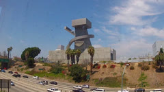 Unusual Building By Side Of 101 Freeway- Los Angeles Stock Footage
