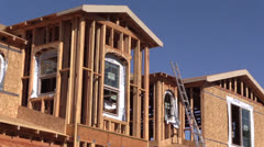 New Home Construction , single family building Stock Footage