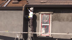 New Home Construction, masonry Stock Footage