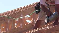 New Home Construction, carpenter Stock Footage