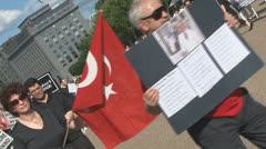 Protest against the Ergenekon Trial Stock Footage