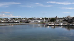 Bowmore waterfront Isle of Islay Scotland Stock Footage