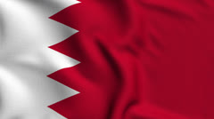 Bahrain Weave Textured Flag Loop Stock Footage