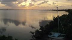 Sunset Cudjoe Bay Time Lapse Stock Footage