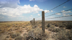 Fence in desert Stock Footage