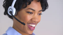 Friendly African American Customer Service Representative Stock Footage