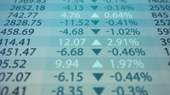 Stock index chart. High frequency trading. - stock footage