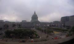 San Francisco City Hall on Polk WS Stock Footage