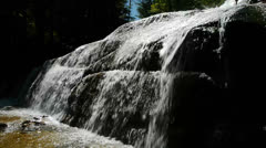 Water Spilling Down Rocks Stock Footage