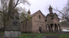Old church in small Georgian town Stock Footage