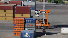 Container Handling Stock Footage