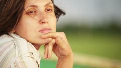 Pretty woman portrait Stock Footage