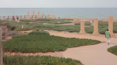 Caesarea Maritima National Park Stock Footage
