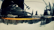 Stock Video Footage of slow motion riding chairlift