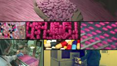 Drug Factory multiscreen - stock footage