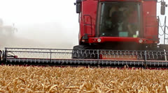 Harvesting equipment - stock footage