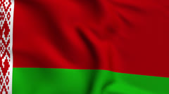 Belarus Weave Textured Flag Loop Stock Footage