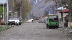 Streets of Kazbegi, Georgia, Caucasus Stock Footage