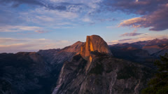 Half dome panning time lapse Stock Footage