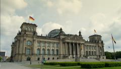Berlin Reichstag, hyperlapse - stock footage
