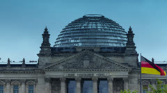 Berlin Reichstag, dome hyperlapse Stock Footage