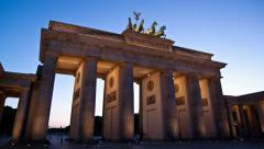 Berlin Brandenburg Gate timelapse Stock Footage