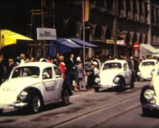 SUPER8 beetle police car in 1968 - stock footage