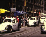 Stock Video Footage of SUPER8 beetle police car in 1968