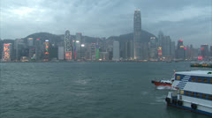 Hong-Kong sunset - stock footage