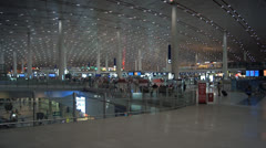 Beijing Capital International Airport interior Stock Footage