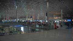 Beijing Capital International Airport interior Stock Footage