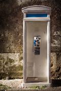 old phonebooth - stock photo