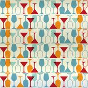 Seamless vector illustration wine, cocktail,glass. Stock Illustration