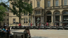 Leeds city square, west yorkshire, england Stock Footage