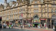 Stock Video Footage of leeds city markets or kirkgate market, england