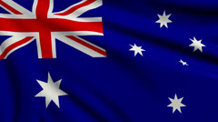 Flag of Australia looping Stock Footage